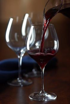Pouring Red Wine Art Photography #decant #cBrowns #cMaroon