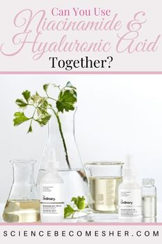 Can you use niacinamide and hyaluronic acid together? What will using niacinamide and hyaluronic acid do for your skin? #skincare #skincaretips #antiaging #antiagingskincare #acne #acnetreatment