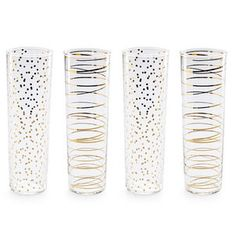 Luxe Moderne Gold Champagne Flutes