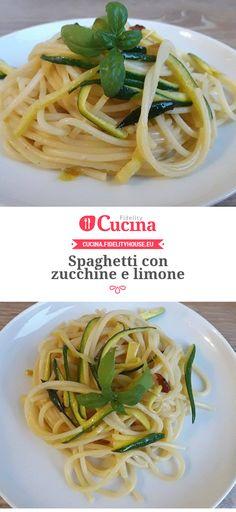 #Spaghetti con #zucchine e limone della nostra utente Vittoria. Unisciti alla nostra Community ed invia le tue ricette!