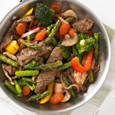 Yummy-licious-ness ... almost as easy as 1...2...3...: ~beef & veggies stir-fry~