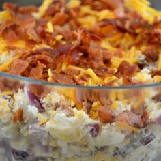 Fully Loaded Baked Potato Salad This is wonderful made it for a party and it was a big hit