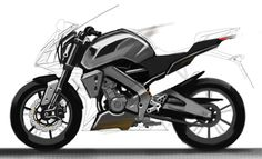 2014_MT125_Sport Touring_Early study comparing the silhouette with R125.jpg (2000×1215)