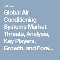 Global air conditioning systems market to witness high revenue from Asia Pacific region during the forecast period. Europe is expected to register moderate growth during the same. Game Development Company, Key Player, Air Conditioning System, Period, Asia, Web Design, Europe, Marketing, Recipe