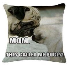 Pug Throw Pillow Cushion Cover