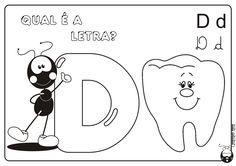 Alfabeto Smilinguido 4 tipos de letra para Baixar Grátis Letra D
