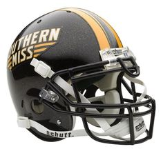 Southern Mississippi Golden Eagles NCAA Schutt Full Size Authentic Football Helmet: Support… #SportingGoods #SportsJerseys #SportsEquipment