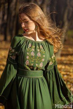 Купить платье с вышивкой - платье, Вышиванка, хлопок, хлопок 100%