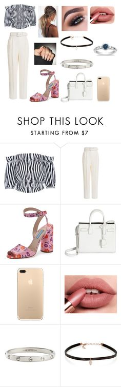 """Colque Pants"" by jorjarestallx ❤ liked on Polyvore featuring Emilia Wickstead, Prada, Yves Saint Laurent, Cartier and Carbon & Hyde"