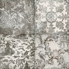 Perini Coloured Tiles - Black, Grey Tile Collection