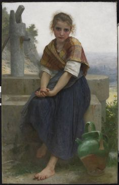 The Broken Pitcher. William-Adolphe Bouguereau Date: 1891 Location: Legion of Honor Gallery 17