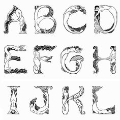 mermaid alphabet