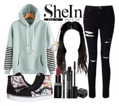 SheIn Hoodie by horselover35125 on Polyvore featuring polyvore fashion style Miss Selfridge Vans Silver Expressions by LArocks Rodial clothing shein