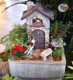 Fairy Garden by Tonkadale Greenhouse Displayed at the Minnesota Arboretum