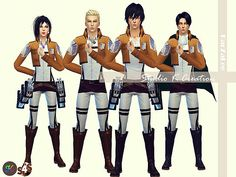 Attack on Titan uniforms for The Sims 4