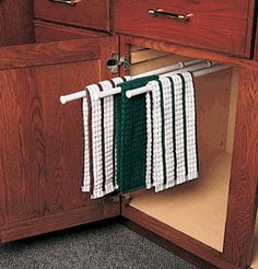 sliding dish towel rods | ... com give towel racks a whole new meaning with new slide out towel bar