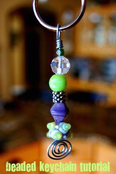 Last Minute Stocking Stuffer Craft: beaded keychains