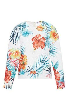 Floral-Embroidered Organza Top by Msgm Now Available on Moda Operandi