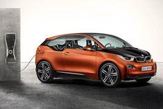 Two-door BMW i3 Concept Coupe seats four in natural material interior.
