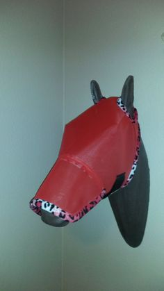 f48bad5ed008 Custom Horse Fly Mask Size Medium Red Mesh with by MMHAriginals