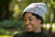 Button Up the HATch - Soft shades of gray and vibrant red buttons work together to create the perfect fall hat. Pair it with your favorite sweater and jeans and you'll be ready to take on the chilly weather. From I Like Crochet's October 2014 issue