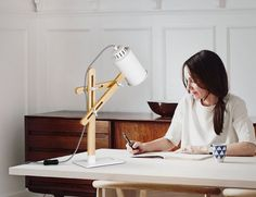 Add some modernity to your workspace with the Tomons LED Multi-Angle Wood Desk Lamp. It has a delightfully Scandinavian inspired design.
