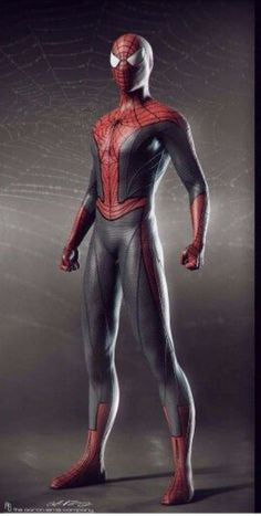 """Concept art of Spiderman  from """"Amazing Spiderman 2"""" (2014)."""