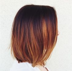 Classy Copper Hair Color Ombre