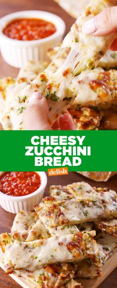 This Zucchini Cheesy Bread has us in low-carb heaven. Get the recipe from Delish.com.
