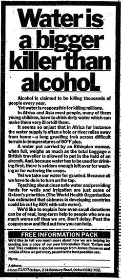 Oxfam. 10 July, 1981