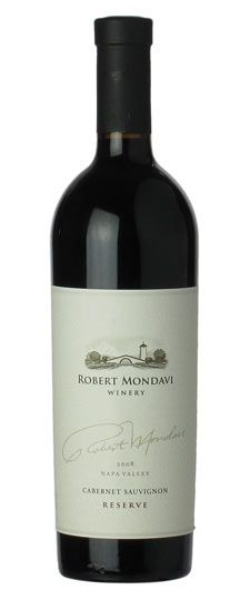 Robert Mondavi Cabernet Sauvignon Reserve 2008 - Dark blueberry and cherry aromas combine with a hint of black olive and sage to form the aromatic base of the wine. The new French oak imparts flavors of roasted coffee and dark chocolate. Fine, ripe tannins provide structure and flow to the complex, elegant finish.