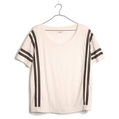 Banded Tee in Courtstripe from madewell.com on Wanelo