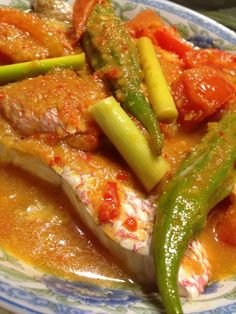 Singapore Home Cooks: Assam Red Snapper Fish by Linda Lau Asian Fish Recipes, Whole30 Fish Recipes, Easy Fish Recipes, Yummy Recipes, Fish Dishes, Seafood Dishes, Seafood Recipes, Cooking Recipes, Spicy Dishes