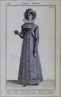 Redingote de Levantine, 1819 costume parisien (Levantine is a heavy, twilled silk)