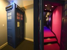 TARDIS home theater — bigger on the inside. I will have this when I own a house.