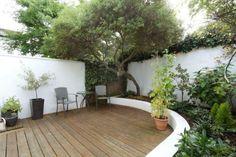 decking & garden area