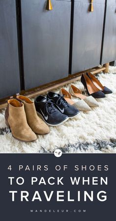 Packing for a trip can be stressful. We're discussing the 4 pairs of shoes to pack when traveling this spring. Travel Capsule, Travel Wear, Travel Shoes, Travel Packing, Travel Style, Travel Tips, Packing Tips, Travel Outfits, Travel Hacks