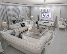 art deco style home decor and interior design, art deco living room decor and furniture Glam Living Room, Living Room Decor Cozy, Simple Living Room, Elegant Living Room, Living Room Interior, Home Interior Design, Home And Living, Fancy Living Rooms, Modern Interior