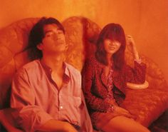 "neon-dreamings: "" takeshi kaneshiro and michelle reis on the set of fallen angels (1995) """