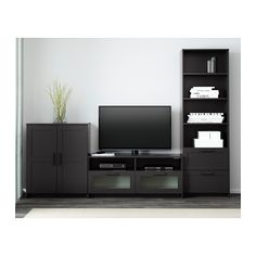 BRIMNES TV storage combination - black - IKEA