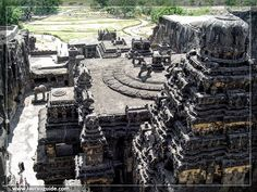 Ellora also known as Verul is an archaeological site 29 km (18 mi) north-west of the city of Aurangabad in the Indian state of Maharashtra, built by the Rashtrakuta dynasty (Brahmanical & Buddhist group of caves) and Yadav (Jain group of caves). It is also known as Elapura in the Rashtrakuta Kannada literature. Well known for its monumental caves, Ellora is an UNESCO World Heritage Site and forms one of major tourist attraction in Marathwada region of Maharashtra.
