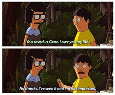 "Bob's Burgers (tina's life) HAHAHA!!! One of my favorite shows. Oh man, best ""grown-up"" cartoon out there."