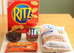 30 Ritz crackers  1 cup chocolate chips or candy coating chocolate (