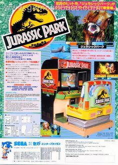 Sega Jurassic Park arcade game