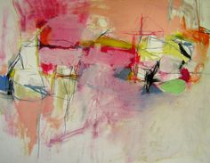 """Saatchi Online Artist: Mary Ann Wakeley; Mixed Media, 2013, Painting """"Beach Days"""""""