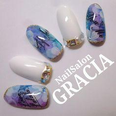 Cute Nail Art Designs, Colorful Nail Designs, Beautiful Nail Designs, Beautiful Nail Art, Japan Nail, Vintage Nails, Japanese Nail Art, Kawaii Nails, Nails Only