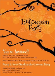 Tree Web Halloween Invitations By Noteworthy Collections