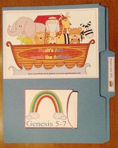 Noah's Ark for Preschool file folder game from Bible Fun For Kids.  The site has lots of ideas.