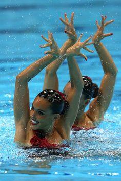 Ona Carbonell y Andrea Fuentes las mejores en natación sincronizada (para mi).