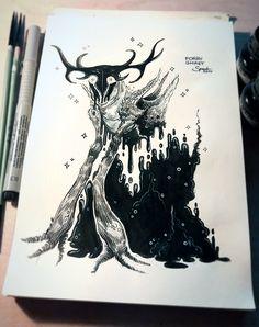 INKTOBER #3 - Forry Ghast